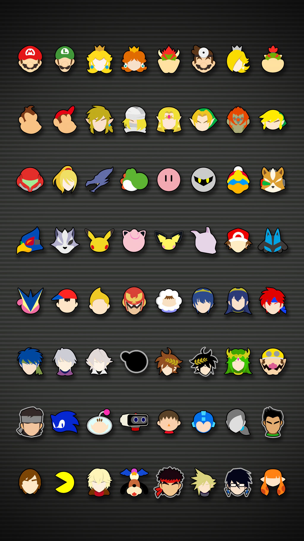 Smash Bros Ultimate Icons Mobile Wallpaper By Kaz Kirigiri On