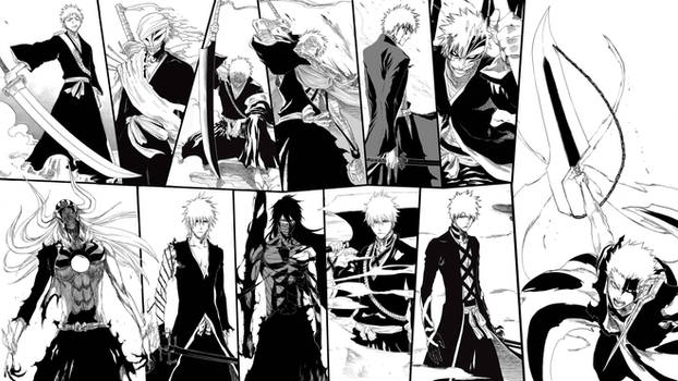 Many forms of Ichigo Kurosaki - Manga Wallpaper