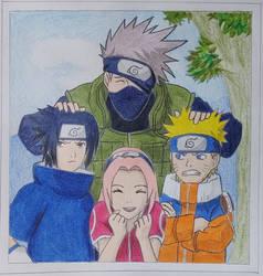 Naruto Team 7 - Photo Drawing