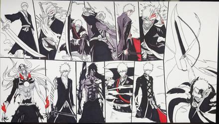 Forms of Ichigo Kurosaki - Wallpaper Drawing