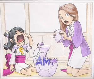 Ace Attorney Young Maya and Mia - Photo Drawing