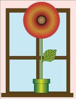 Flower in a windowsill by azieser