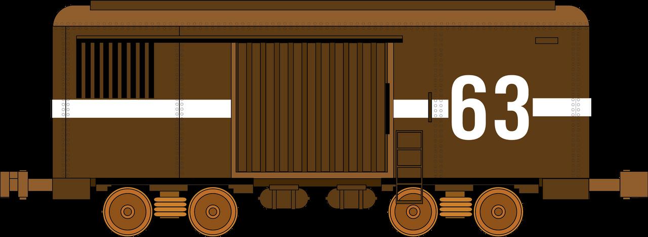 Vintage Train Car 63 by azieser