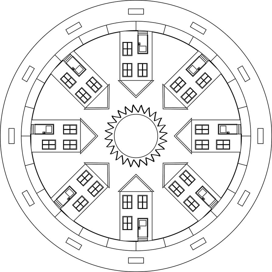 Neighborhood Mandala by azieser