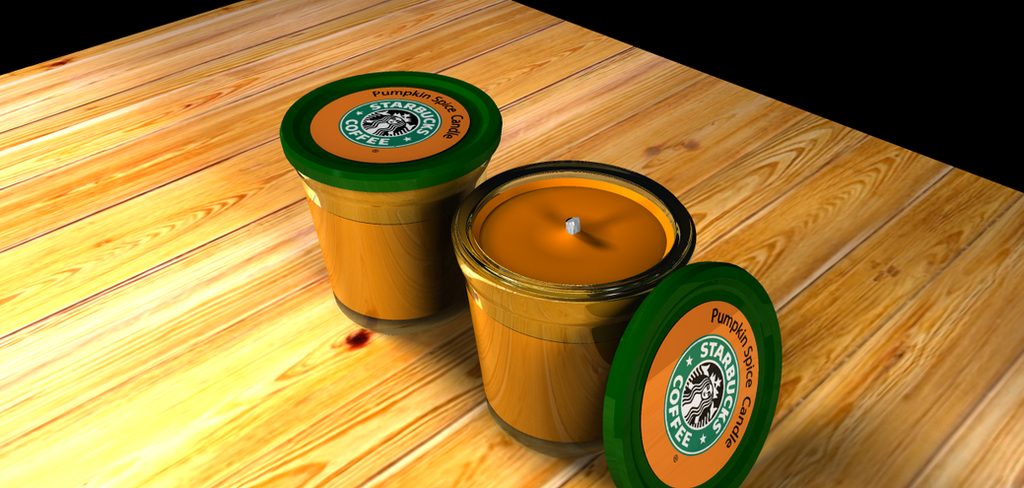 Starbucks Candle Finished Render by azieser