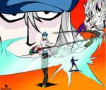 Kite vs Pitou by AQcartoonist