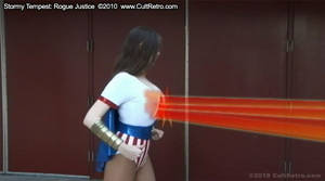 Superheroine's Chest Beam by accomics