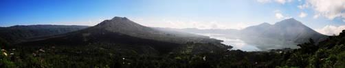 Panorama of Mount Batur - Bali by KarinKousuke