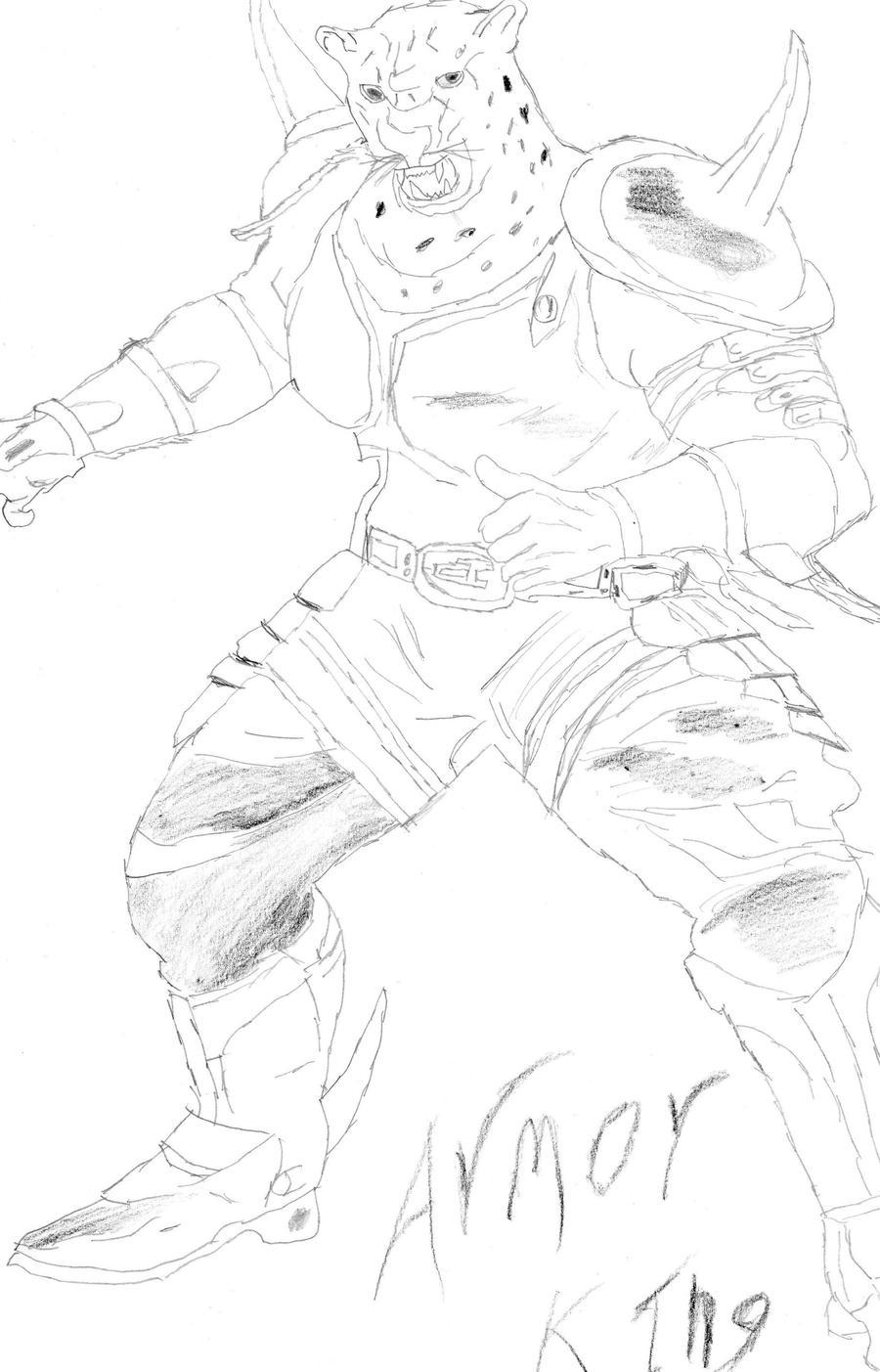 Armor King Tekken Drawing By Mick81 On Deviantart