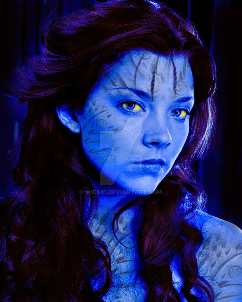 Natalie Dormer as Mystique X-men/ game of thrones by Mick81