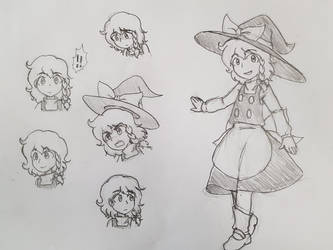 Marisa Sketch by GiantCaveMushroom