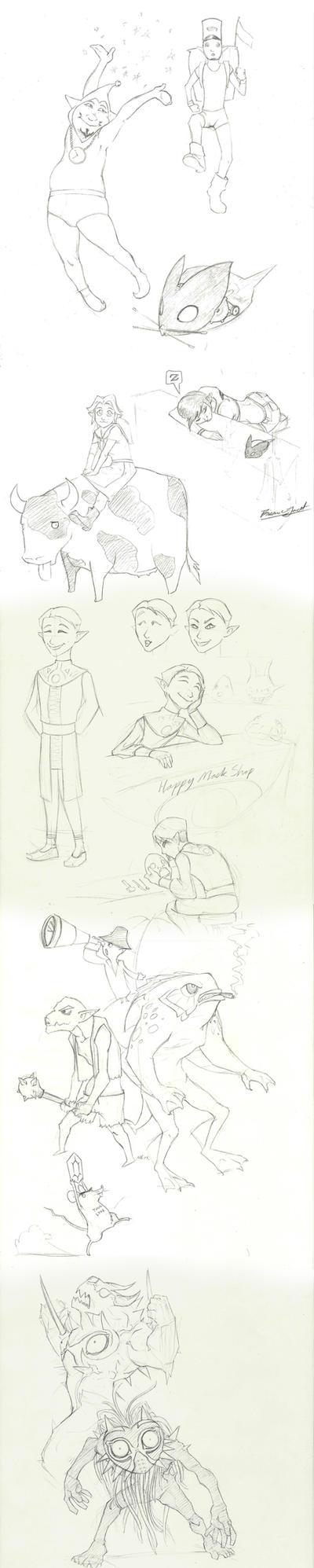 Random Zelda stuff [sketchdump] by Bri-Dude