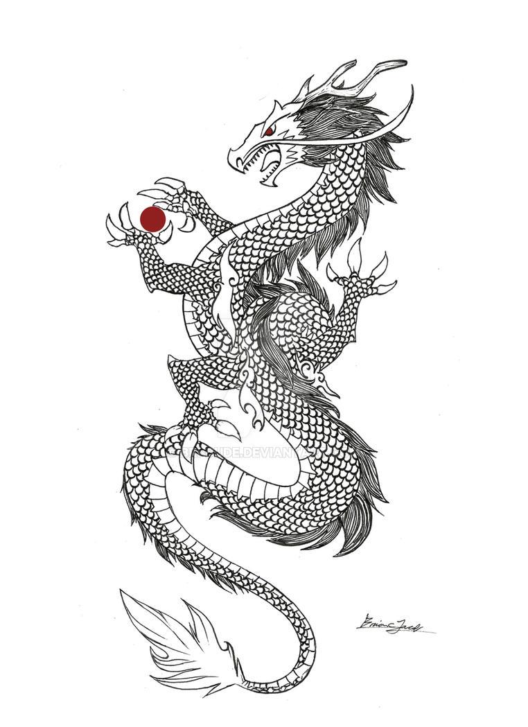 Eastern Dragon (Ink) by Bri-Dude
