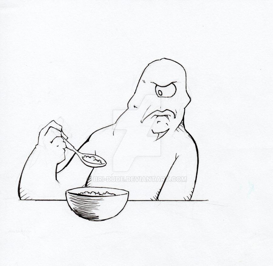 Cyclops does not like Porridge by Bri-Dude