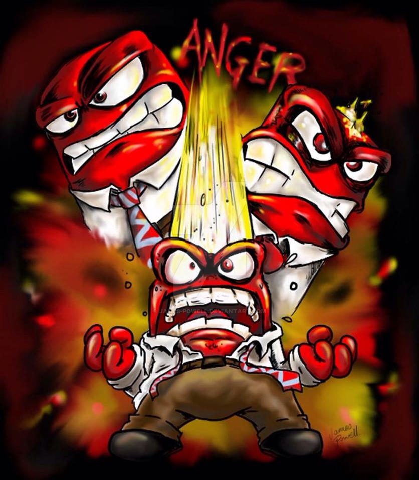 Anger from Disney/Pixar Inside Out by JAMES-POWELL