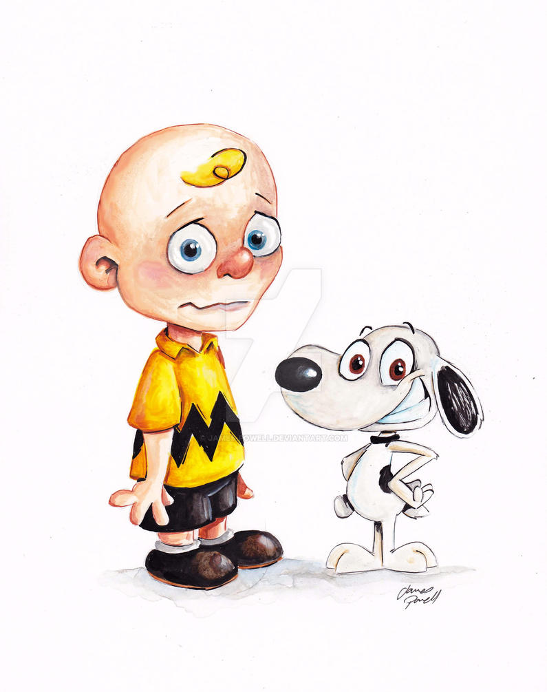 Charlie Brown and Snoopy by JAMES-POWELL