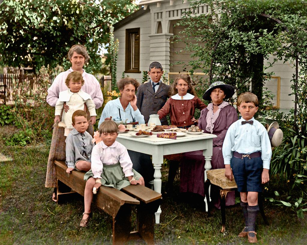 family backyard picnic by steffano webb ca 1910 by colinfiat on