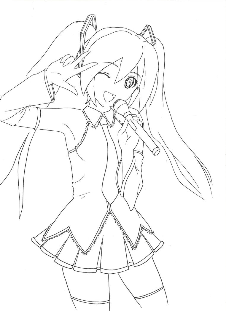 hatsune miku coloring pages - photo #1