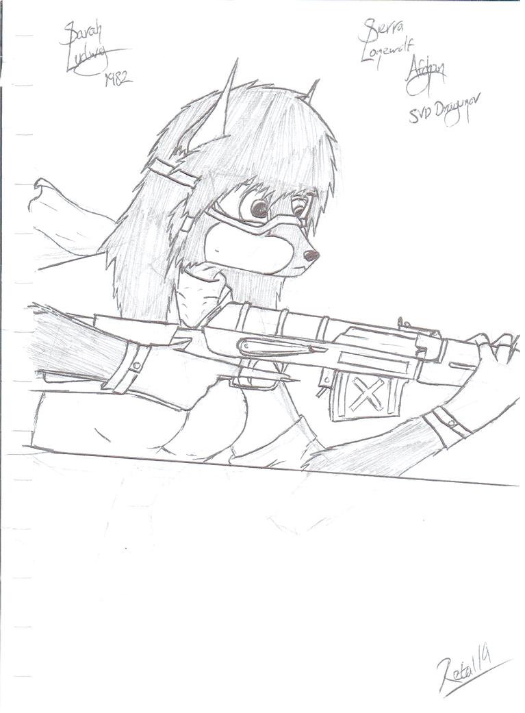 Sarah Ludwig - Afghan Sniper by Retal19