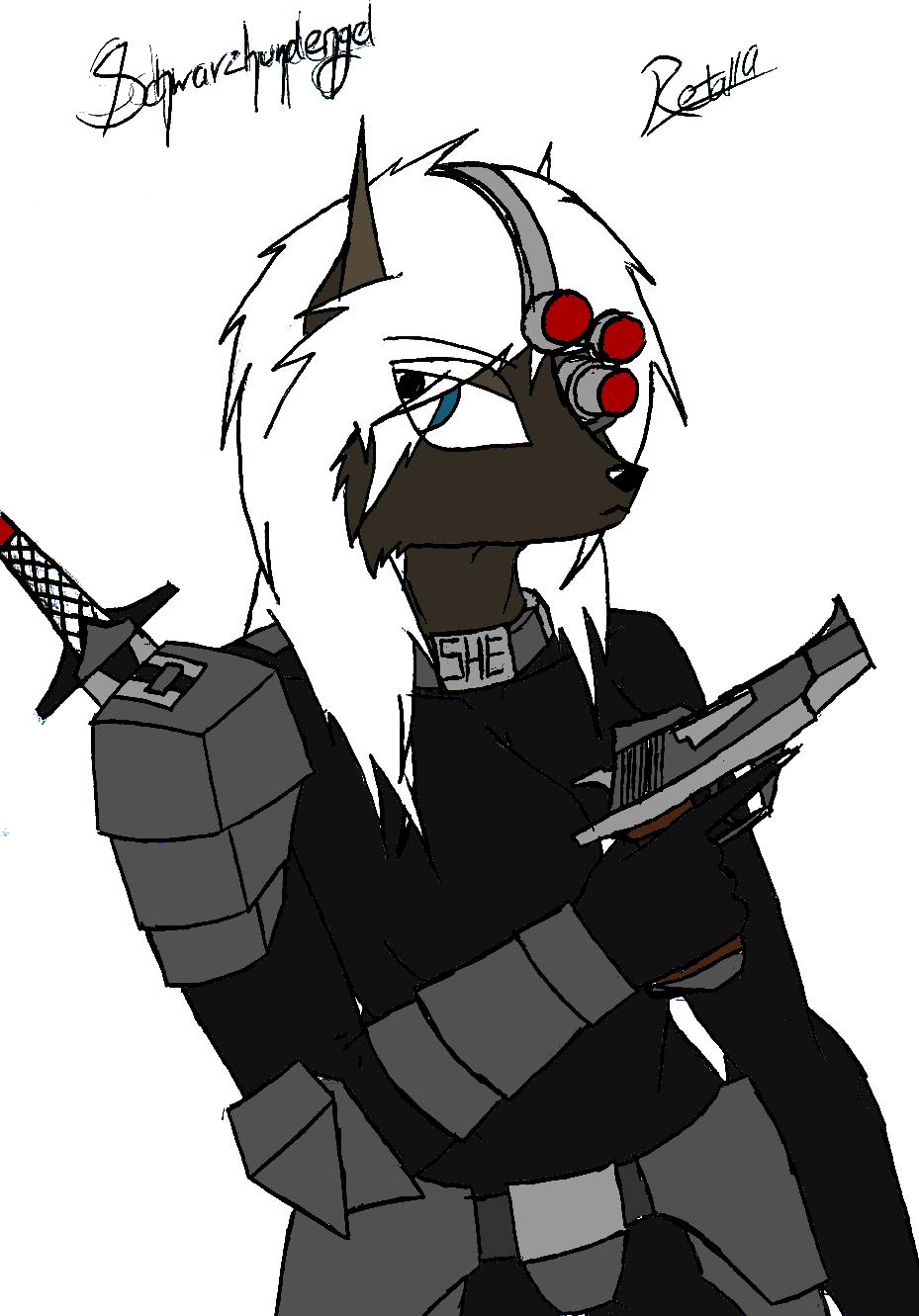 Schwarzhundengel by Retal19