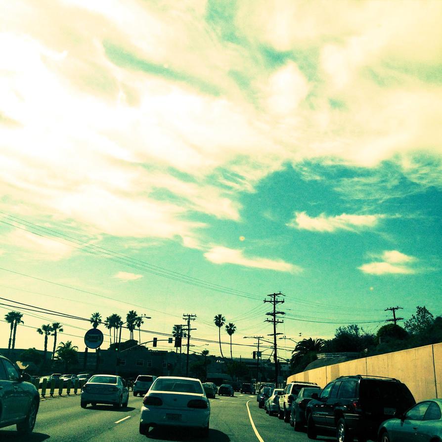 Driving, Nice Sky by ArtistofRandomnes