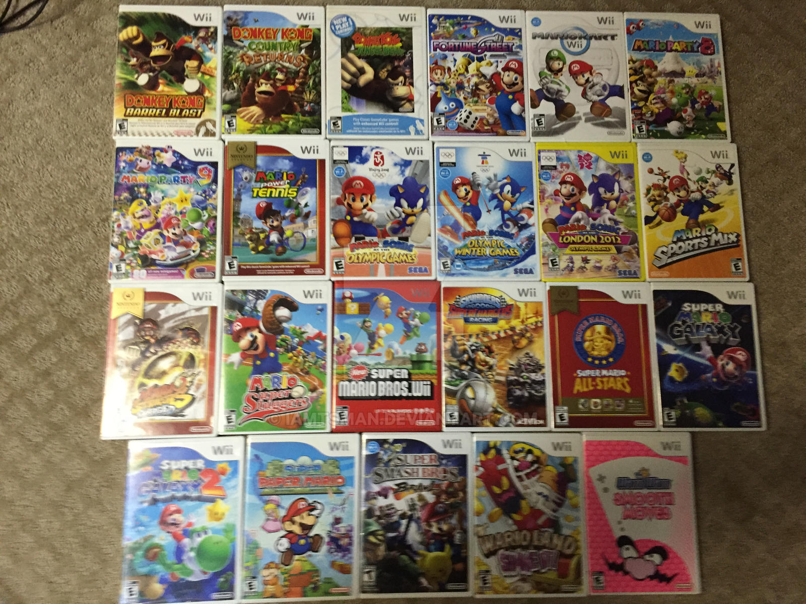 Updated Mario Game Collection-Wii (COMPLETE) by IamTSman