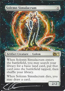 mtg Altered - Solemn Solar Flare