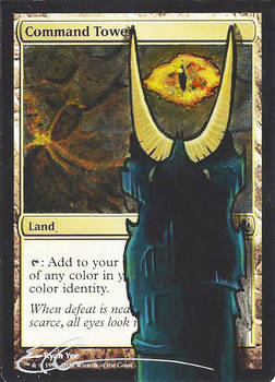 mtg Altered - Command Tower LOTR