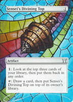 mtg Altered - Sensei's Divining Top Stained Glass by ClaarBar
