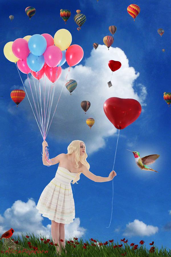 Let Love Be Free Like A Bird  by alicepopkorn