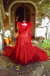 Lydia Deetz Red Gown REVAMPED by bluerosetayu