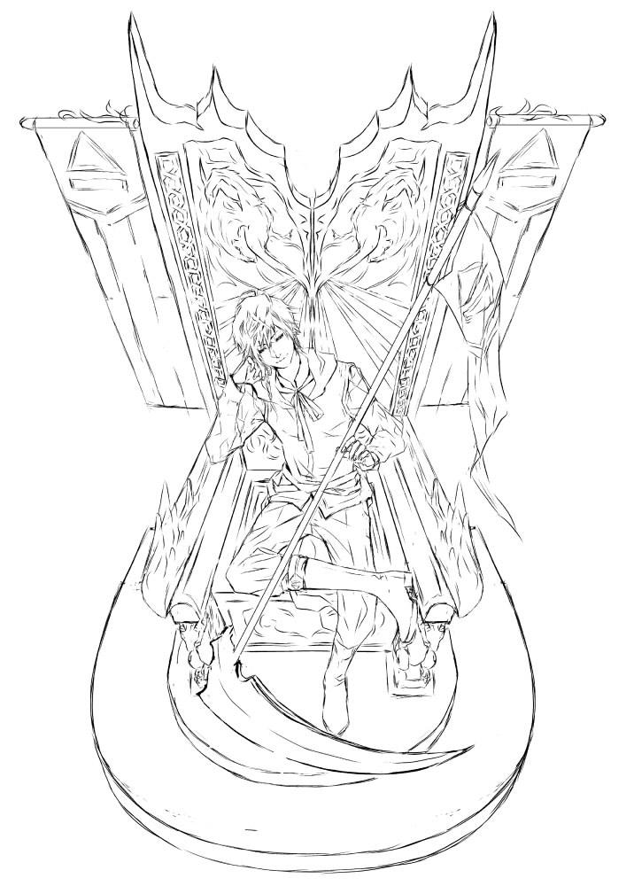 commission-the royal throne by jounetsunoakai