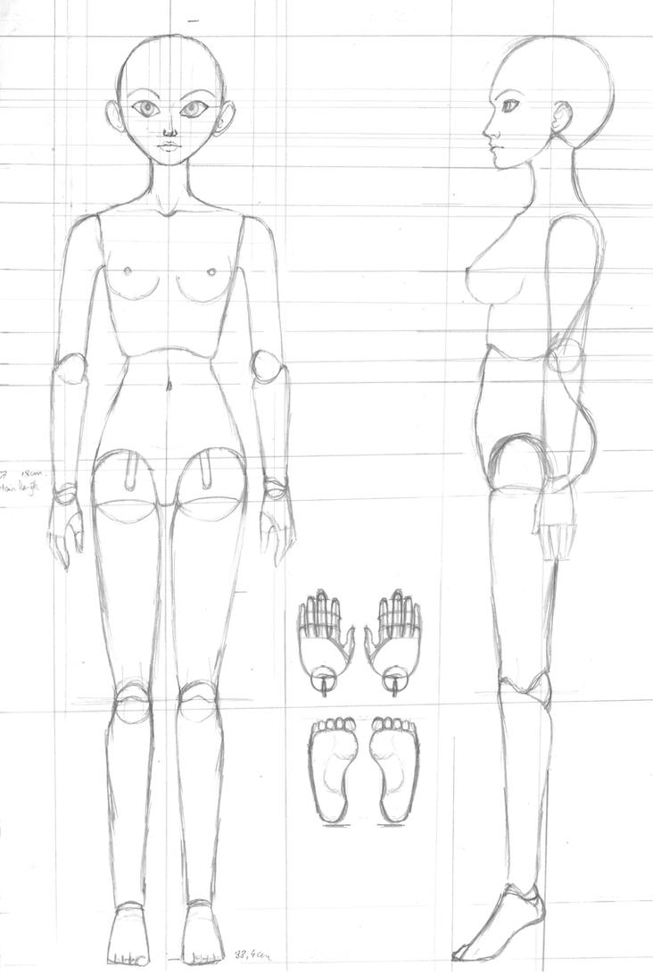 BJD Ball Joint Doll Blueprint 01 by Madda-Sketches on ...