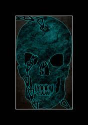 Blue Skull by SnuggliePuff