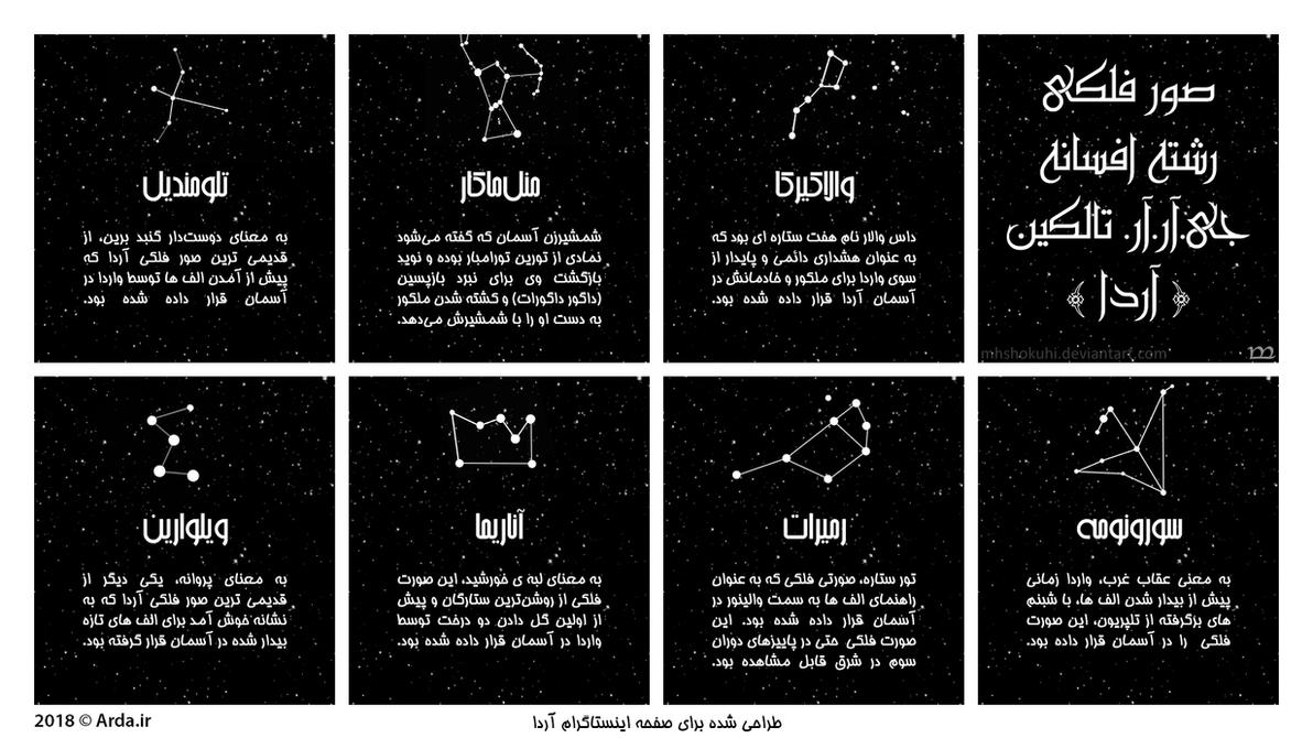 Constellations of J.R.R. Tolkien's Legendarium by MHShokuhi
