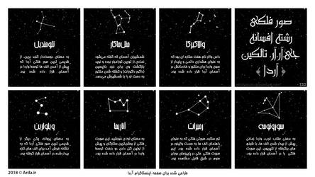 Constellations of J.R.R. Tolkien's Legendarium by MHShokuhi