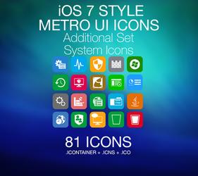 iOS 7 Style - Metro UI - System Icons by PhusixNinja