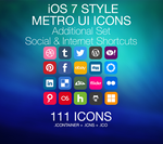 iOS 7 Style - Metro UI - Social Media and Internet