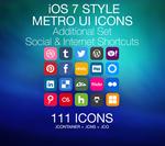 iOS 7 Style - Metro UI - Social Media and Internet