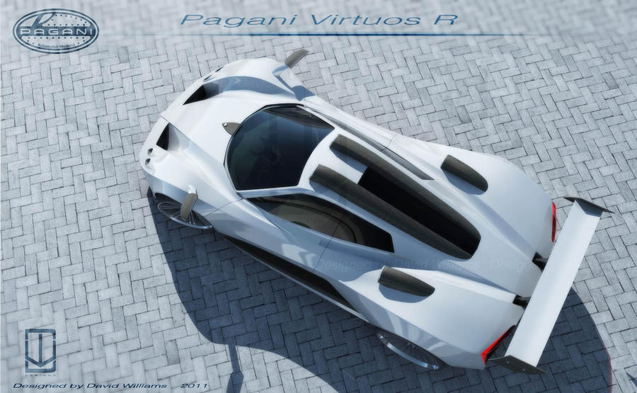 Pagani Virtuos R Top View By Wizzoo7 On Deviantart