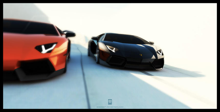 Aventador SV  vs Aventador by wizzoo7