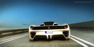 Ferrari rear by wizzoo7