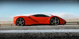 Ferrari F70 side view by wizzoo7