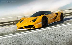 yellow Ferrari F70 FXX by wizzoo7