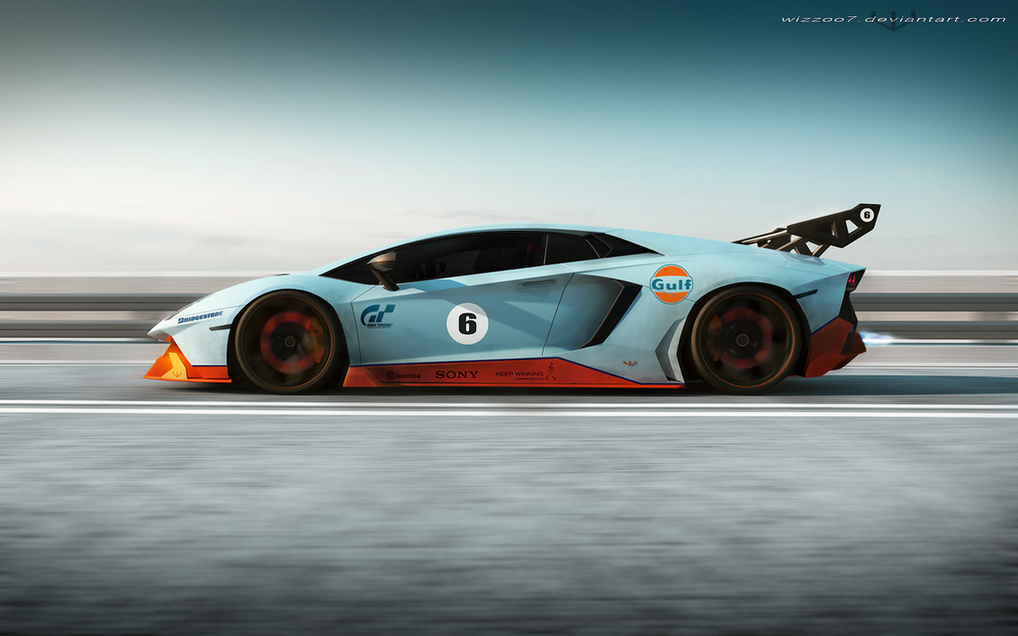 Lamborghini Gulf edition by wizzoo7