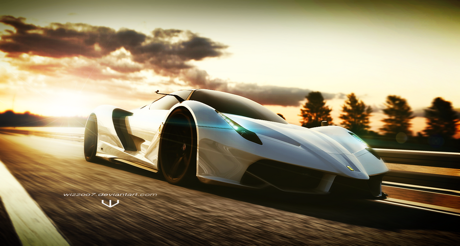 Ferrari F70 Sunset By Wizzoo7 On Deviantart