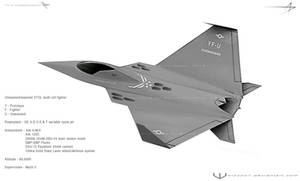 YF-U Stealth fighter concept by wizzoo7