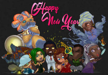Happy New Year 2019! -from Vudu Legends by mikeroro