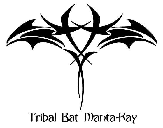 tribal bat manta ray by jluuiss on deviantart. Black Bedroom Furniture Sets. Home Design Ideas