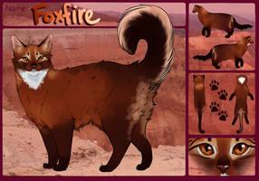 Foxfire Ref by PatchyFallenstar